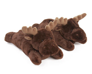 Fuzzy Moose Slippers