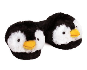 Fuzzy Penguin Slippers