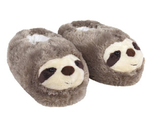 Fuzzy Sloth Slippers