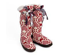 Grace Hearts Slipper Boots