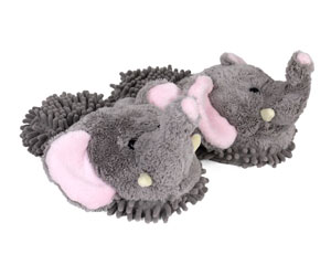 Gray Elephant Slippers