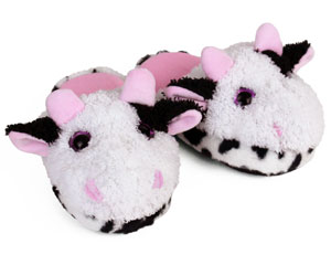 Kids Cow Slippers