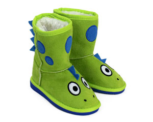 Kids Toasty Toez Dinosaur Slippers