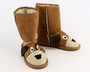 Kids Toasty Toez Dog Slippers