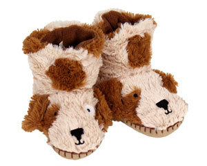 Kids Dog Slouch Slippers