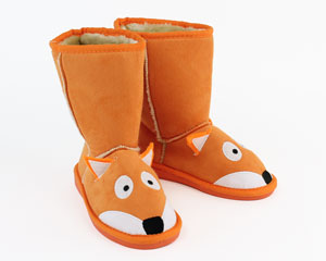 Kids Toasty Toez Fox Slippers