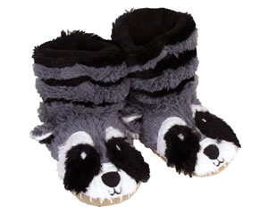 Kids Raccoon Slouch Slippers