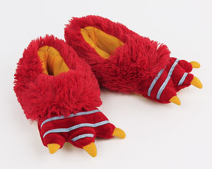 Kids Red Monster Slippers
