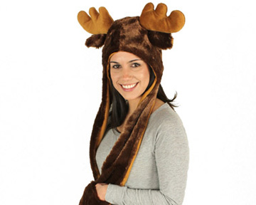 Moose Hooded Scarf