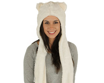 Polar Bear Hooded Scarf