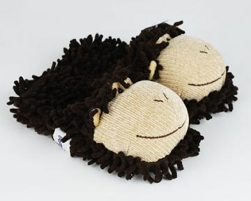 Children's Fuzzy Monkey Slippers (Aroma Home)