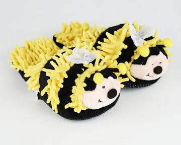 Children's Fuzzy Bumble Bee Slippers (Aroma Home)