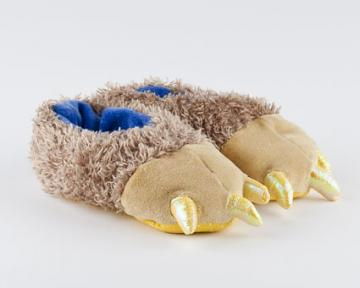 Toddler's Brown Bear Feet Slippers