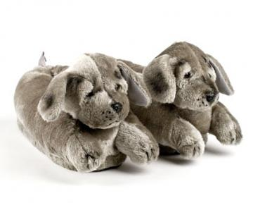 Gray Puppy Animal Slippers
