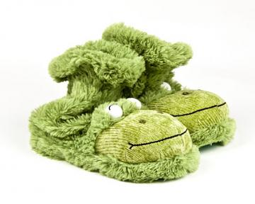 Fuzzy Frog Sock Slippers