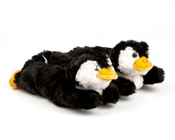 Kids Fuzzy Penguin Slippers