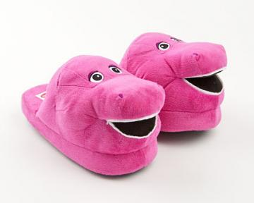 Barney The Purple Dinosaur Character Slippers