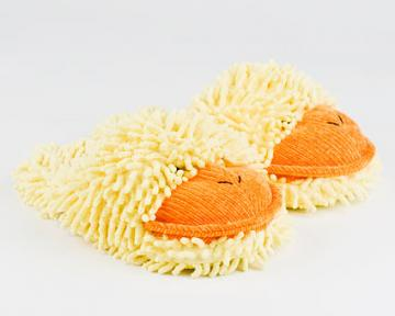 Kids Fuzzy Duck Slippers