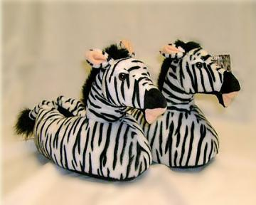 Children's Zebra Slippers