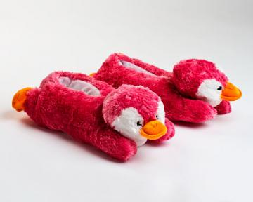 Pink Penguin Slippers