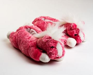 Pink Horse Slippers