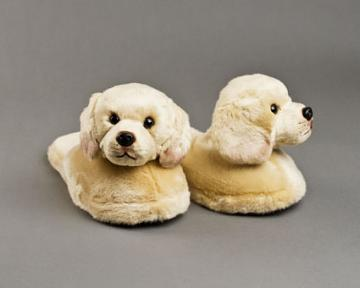 Yellow Labrador Dog Slippers