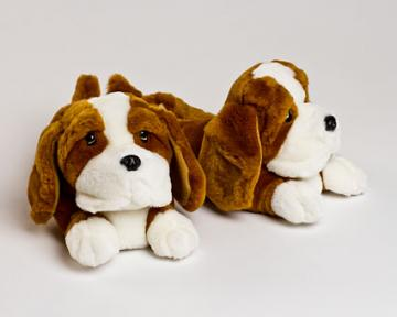 Children's Basset Hound Slippers