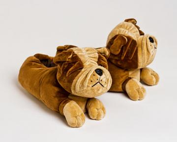 Children's Bulldog Slippers