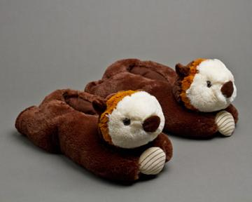 Children's Otter Slippers