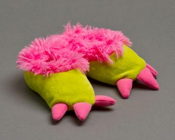 Toddlers Pink Monster Feet Slippers