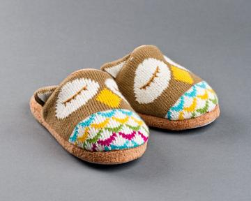 Knitted Clog Owl Slippers