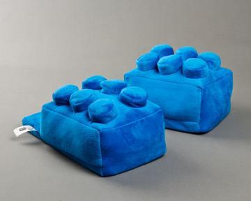 Blue Building Block Slippers