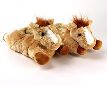 Fuzzy Horse Slippers