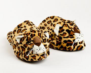 Microwaveable Leopard Slippers (Warm Whiskers)