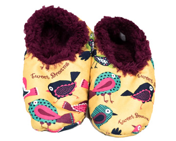 Tweet Dreams Fuzzy Feet Slippers
