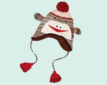 Kids Sock Monkey Hat