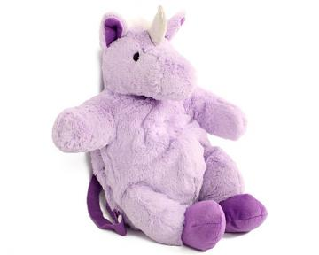 Plush Purple Unicorn Backpack