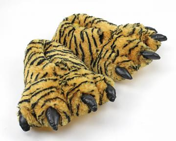 Kids Tiger Paw Slippers