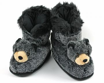 Black Bear Slipper Boots
