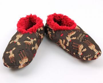 Chocolate Moose Fuzzy Feet Slippers