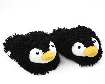 Fuzzy Friends Penguin Slippers