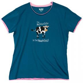 Moody in the Morning Cow Pajama Top