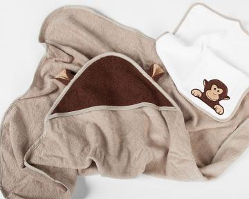 Kona the Monkey Hooded Towel