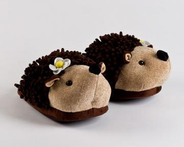 Children's Fuzzy Hedgehog Animal Slippers
