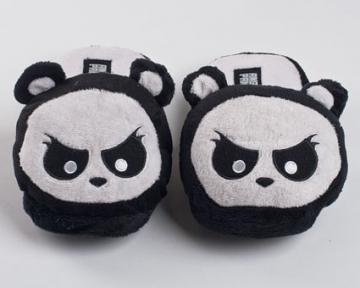 Angry Panda Slippers