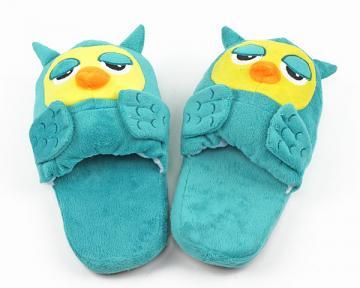Blue Owl Slippers