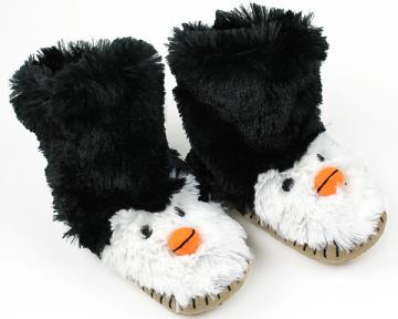 Kids Penguin Slouch Slippers