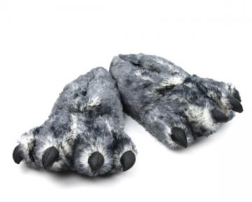 Kids Wolf Paw Slippers