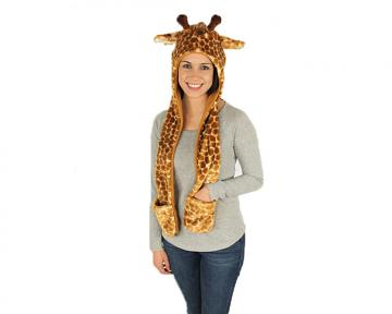 Giraffe Hooded Scarf
