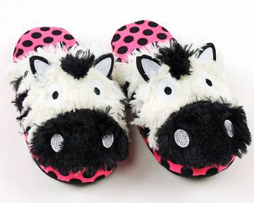 Zebra Critter Slippers